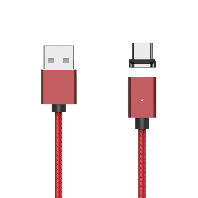 Cable USB magnético Tipo C, WSKEN X1 Cable Cargador USB C ...