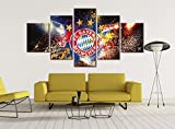 Bayern Munich Soccer Art - Soccer Canvas || Soccer Room Decor Soccer Gifts Canvas Wall Decor