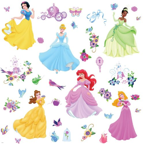RoomMates RMK1470SCS Disney Princess Peel and Stick Wall Decals with Gems, Baby & Kids Zone