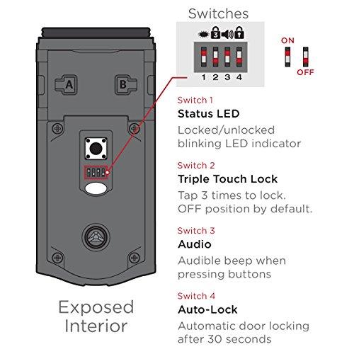 Kwikset Kevo 2nd Gen Touch To Open Bluetooth Smart Lock