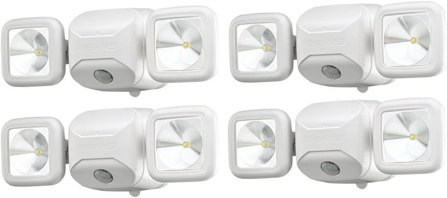 500 Lumens White Beams MB3000 High Performance Wireless Battery Powered Motion Sensing Led Dual Head Security Spotlight Mr