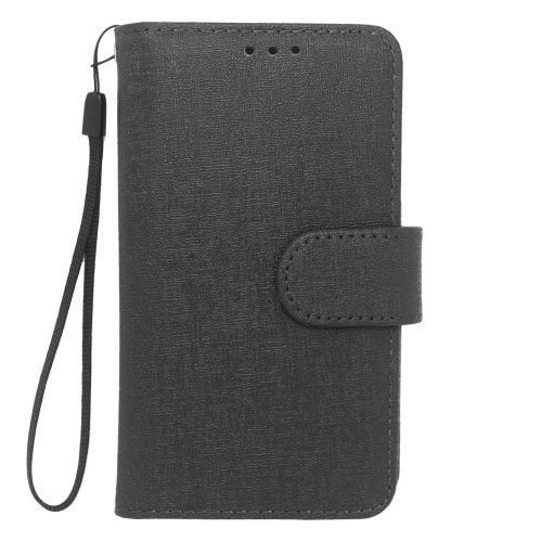 HJ POWER[TM] BLU Star 4.5 Leather PU WALLET POUCH Cover + [Free HJ POWER Stylus] Black