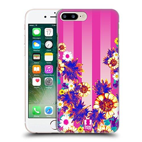 Head Case Designs Strisce Floreali Impero Rosa Cover Retro Rigida per Apple iPhone 7 Plus / 8 Plus