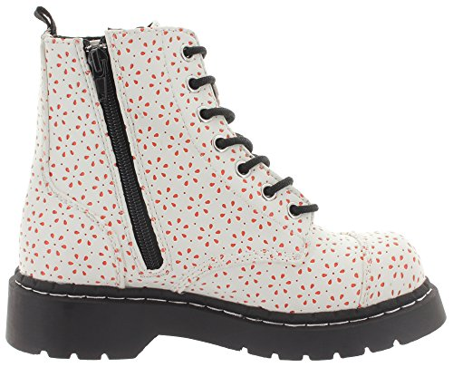 Women's k eye T Boots u White Shoes 7 Perforated Anarchic CSxtvq6