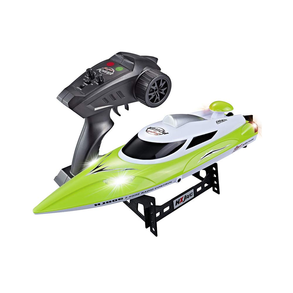 Waymine HJ806 RCボート 高速 35km/h 200m コントロール距離 RCボート レーシング 47x12x13.5cm/18.5x4.7x5.3in Way14761798 B07JLXSJ81 グリーン グリーン