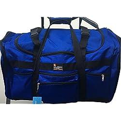 "28"" 50lb. Capacity Royal Blue with Black Trim Duffle Bag/ Gym Bag / Luggage / Suitcas"