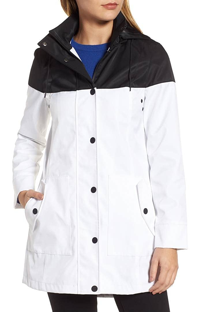 f2f4bbd044b3 UGG Trench Rain Jacket (Black White