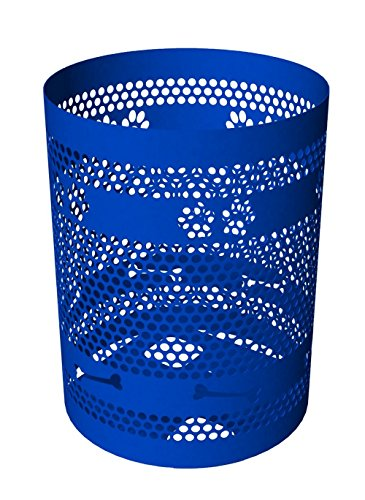 - BarkPark Tidy Up Dog Park Trash Receptacle, 32-Gallon,  Blue