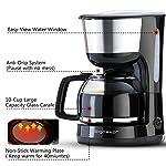 Aigostar-Chocolate-30HIK-Macchina-per-caffe-10-Tazze-Macchina-Caffe-Americano-1000-Watts-Caffettiera-Firltro-riutilizzabile-Capacita-125L-FBA-assente-Colore-nero-Design-Esclusivo