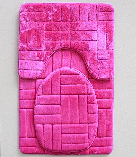 Buy pink bath mat memory foam