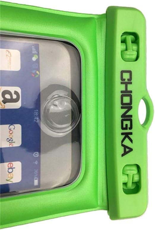 Chongka - Funda Universal Impermeable para iPhone 11 Pro X 8 7 6S Plus Galaxy Pixel hasta 6.0 Pulgadas, Funda Impermeable para Piscina Playa Kayak