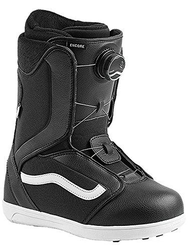 Vans Encore Women's Snowboard Boots 2018, Black/White (7 B(M) US) (Vans Boots Snow)