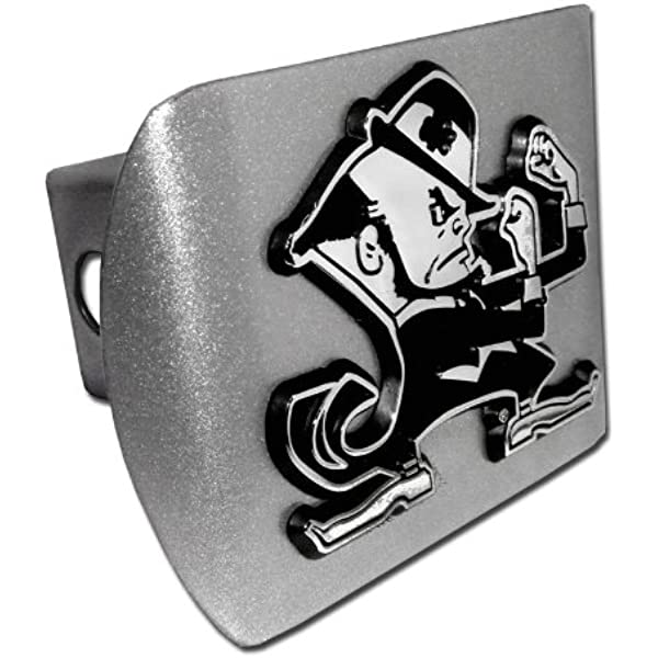 """Mississippi State University Black with Chrome /""""M State/"""" Emblem NCAA College Sports Metal Trailer Hitch Cover Fits 2 Inch Auto Car Truck Receiver"""