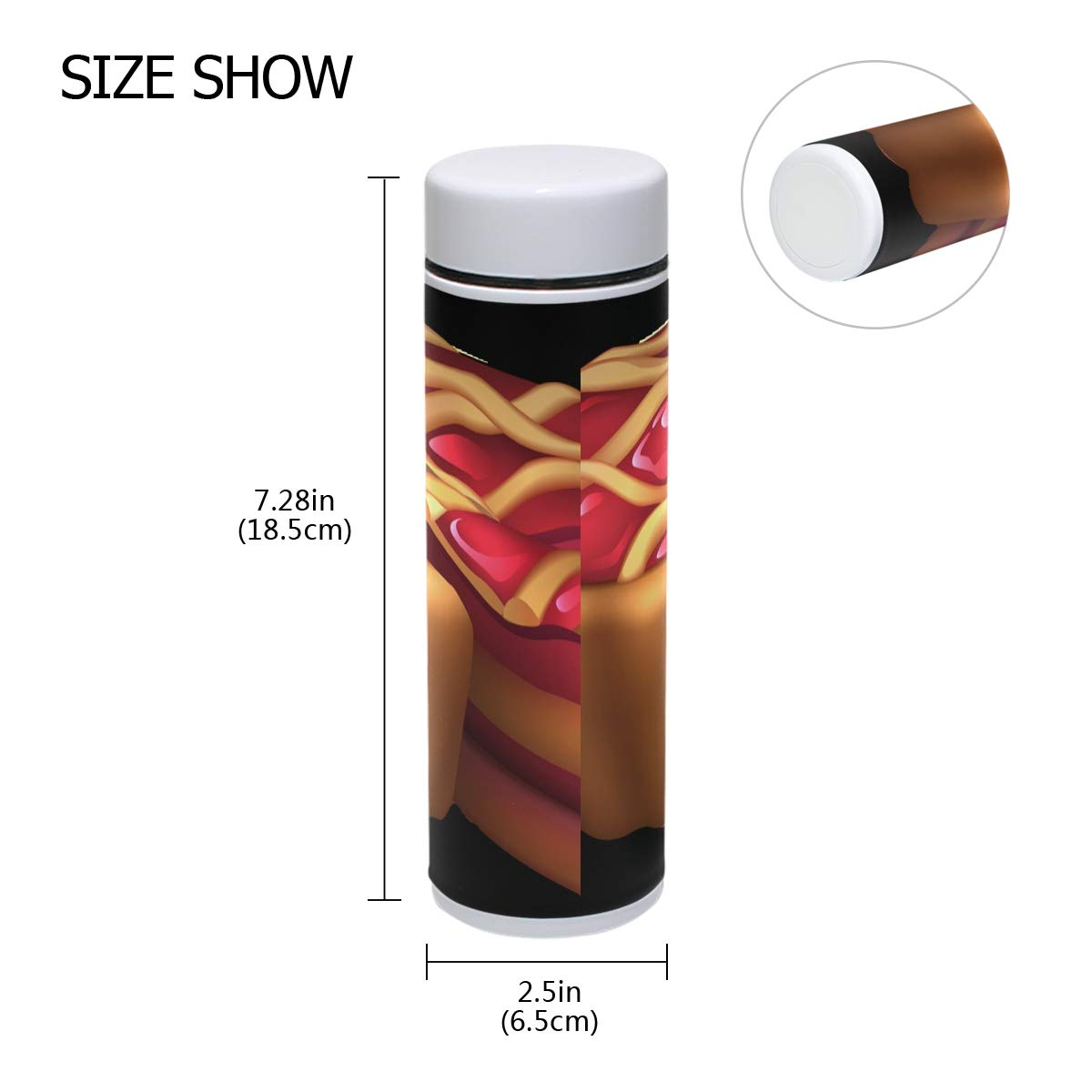 2d77fa9b39e Amazon.com: Thermal Travel Mug Transparent Wine Jar Food Grade Water Bottle  Insulated Coffee Tea Cup with Lid: Kitchen & Dining