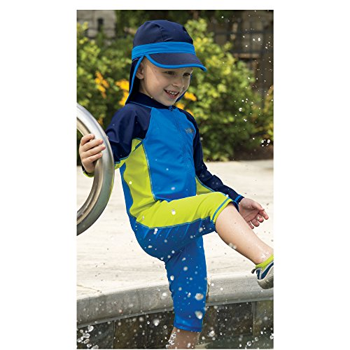 Sun Smarties Toddler Boys UPF 50+ Sun Protection Shark Surf Suit Sunsuit 4T Blue by One Step Ahead (Image #2)