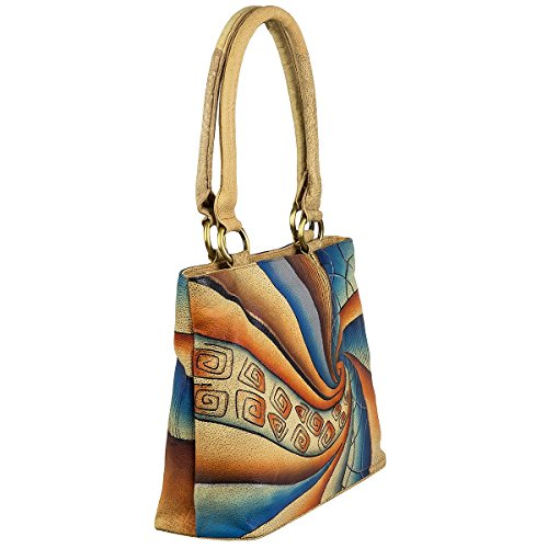 35 compartiment pelle a mano Art cm tablet Greenland borsa Craft xqwZ6n6Y8