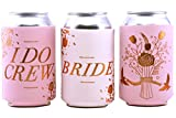 pink beverage cooler - Bachelorette Party I DO CREW 11 Pack , Bridal Shower, & Wedding Favor Beverage Cooler Koozie | 10 Pink, 1 White BRIDE | Neoprene Sleeve for Cans & Bottles | Decorations, Party Supplies