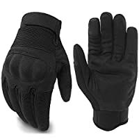 JIUSY Touch Screen Military Shooting Hard Knuckle Tactical Gloves for Motorcycle Cycling Riding Hunting Hiking Army Combat Full Finger Gloves