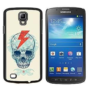 "Be-Star Único Patrón Plástico Duro Fundas Cover Cubre Hard Case Cover Para Samsung i9295 Galaxy S4 Active / i537 (NOT S4) ( Cráneo Rayo Cresta Patrón"" )"