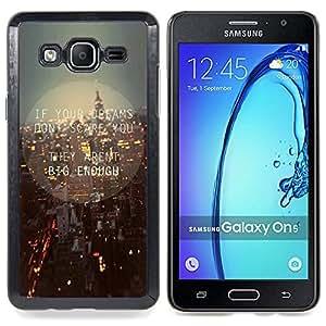 """Qstar Arte & diseño plástico duro Fundas Cover Cubre Hard Case Cover para Samsung Galaxy On5 O5 (Luces de Nueva York calles de la ciudad la noche del horizonte"""")"""