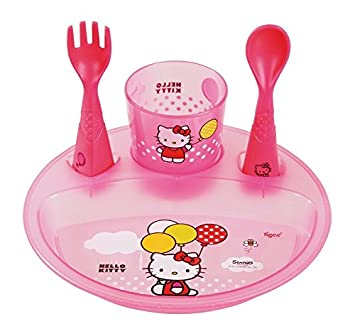 Tigex 80800752 - Lote de vajilla fun puzzle Hello Kitty (4-36 meses): Amazon.es: Bebé