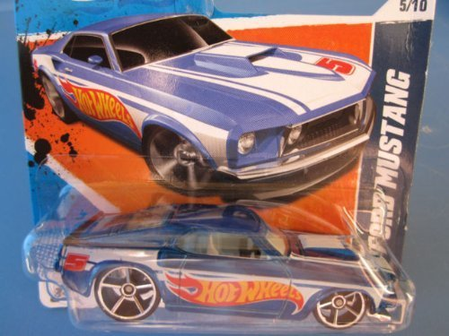 2011 Hot Wheels Shorts Card '69 Ford Mustang Blau   155/244 by Mattel