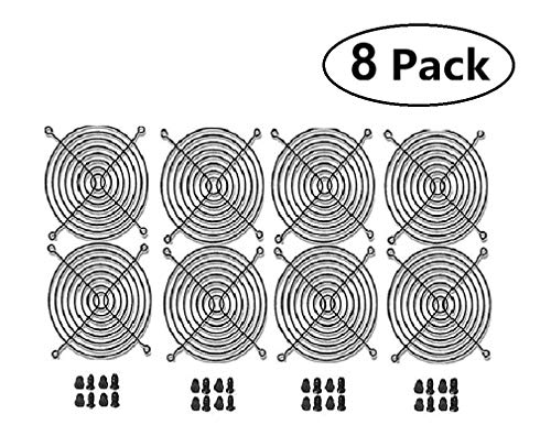 AIYUE 8 PCS 120mm Wire Silver Fan Grill Guard with Screws for Axial Brushless -