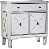 Powell Mirrored 1-Drawer, 2-Door Console