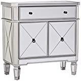 mirrored bedroom furniture Powell Mirrored 1-Drawer, 2-Door Console