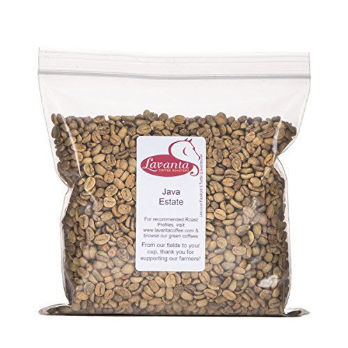 Lavanta Coffee Roasters Indonesia Java Estate Green Direct Trade Coffee, 2lb