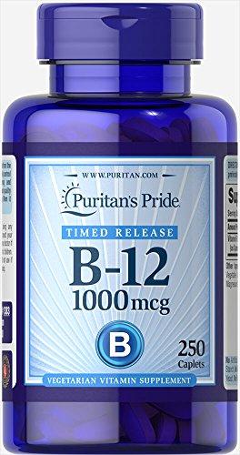 Puritan's Pride Vitamin B-12 1000 mcg Timed Release-250 Caplets