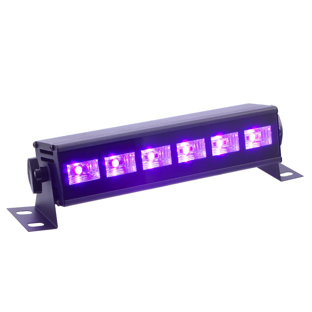 Black Light, InBrave 3W x 6 LEDs UV Bar Black Light Fixture for Party Club DJ Stage Lighting Metal Housing Black