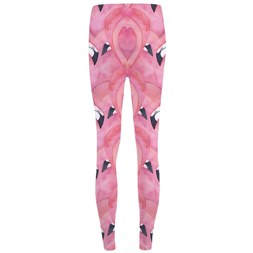 5f349f0f91e15 Unicorn Leggings Flower 3D Pants Pink Sexy High Waist Leggins Trousers Women  Funky Fitness Elastic, Leggings 08, One Size at Amazon Women's Clothing  store: