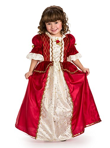 Little Adventures Winter Beauty Princess Dress Up Costume (Medium Age 3-5) Red