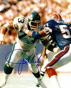 Athlon CTBL-016604 Joe Klecko Signed New York Jets 8 x 10 Photo vs Bills - New York Sack Exchange