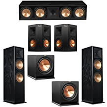 Klipsch 5.2 Black Ash System with 2 RF-7 III Floorstanding Speakers, 1 RC-64 III Center Speaker, 2 Klipsch RP-250S Surround Speakers, 2 Klipsch R-112SW Subwoofers