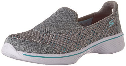 Price comparison product image Skechers Children's Go Walk 4 Kindle Grey Turquoise (4)