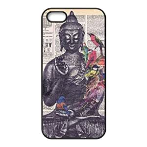 Buddha DIY Cover Case for Iphone 5,5S,Buddha custom cover case series 8