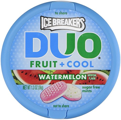 Price comparison product image Ice Breakers Duo Fruit + Cool Watermelon Flavor Sugar Free Mints 8 - 1.3 Oz Tins