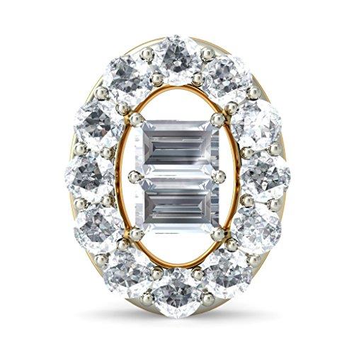 14K Or jaune 0,34CT TW White-diamond (IJ | SI) Boucles d'oreille à tige