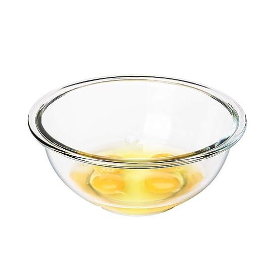 LXZWAN Cuenco de Cristal Templado Transparente para Mezclar Huevos ...