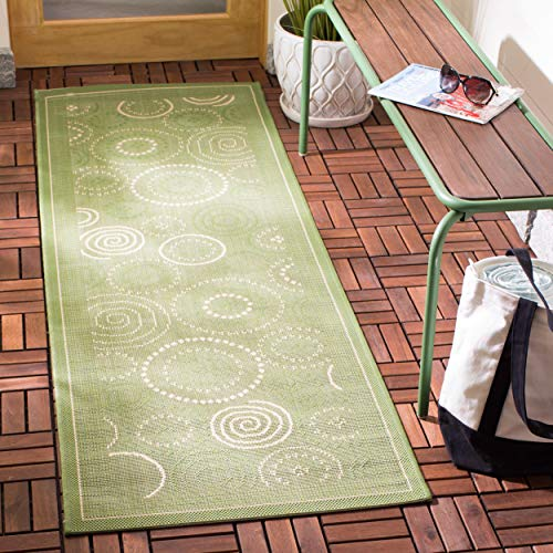 - Safavieh Courtyard Collection CY1906-1E06 Olive and Natural Indoor/ Outdoor Runner (2'3