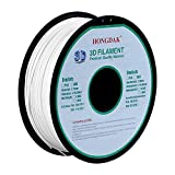 HONGDAK, 3D Printer Filament, PLA Filament 1.75mm Dimensional Accuracy +/- 0.03 mm, 1kg Spool (2.2LBS), PLA-1000g-1.75mm - WHITE