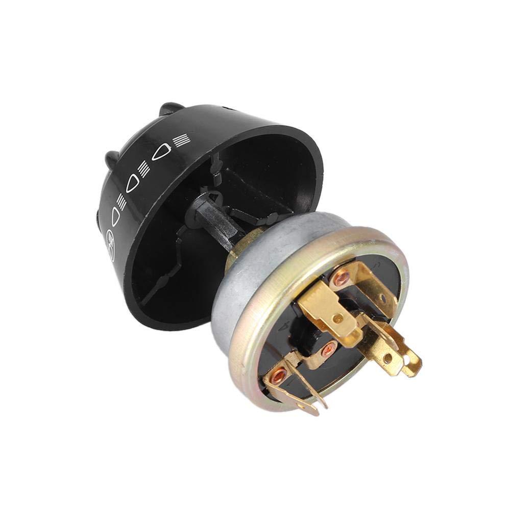 Interruptor de Bocina Qiilu Interruptor de Bocina a Prueba de Agua de 12V hecho de ABS e Aluminio Interruptor de Luz//bocina 1668816M1 1699034M1 Interruptor de encendido//apagado