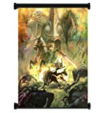 "Yofit1 X Legend of Zelda: Twilight Princess Game Fabric Wall Scroll Poster (16""x21"") Inches"