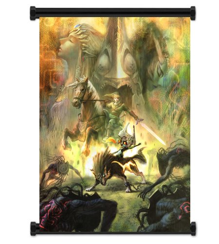 Yofit1 X Legend of Zelda: Twilight Princess Game Fabric Wall Scroll Poster