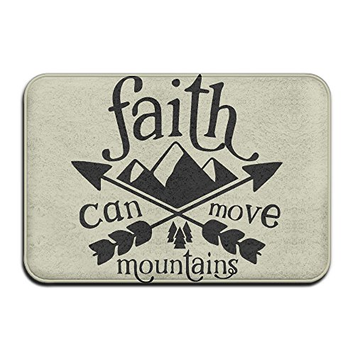 Faith Can Move Mountains Indoor Outdoor Entrance Rug Non Slip Standing Mat Doormat Rugs For Home by HONMAt-Non