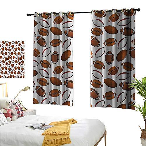 (Superlucky Customized Curtains,American Football,63