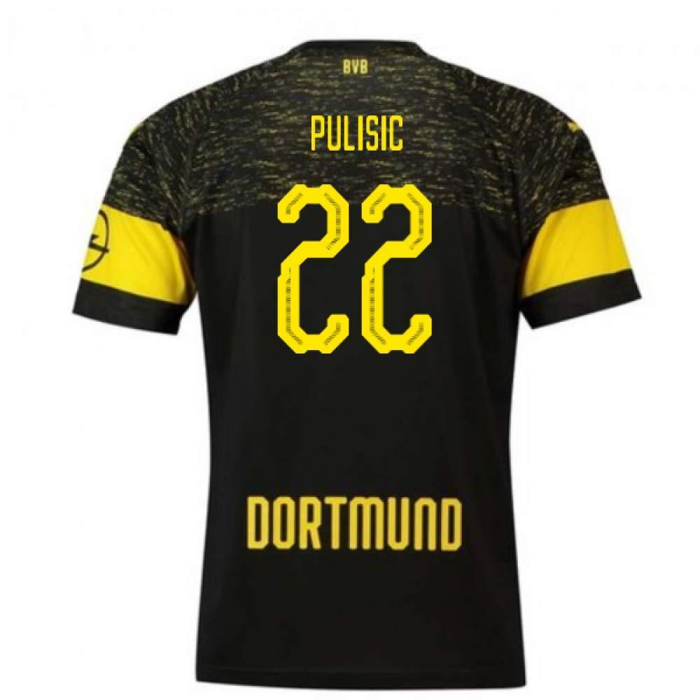 2018-2019 Borussia Dortmund Puma Away Football Soccer T-Shirt Trikot (Christian Pulisic 22)