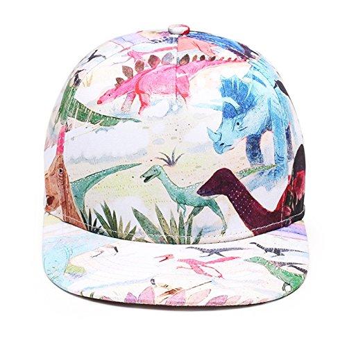97a827399ed38 NUZADA GL Novelty Dinosaurs Summer Flat Hat Unisex Outdoor Snapback Hat 3D  Printing Adjustable Hip Hop Flat Bill Baseball Cap at Amazon Women's  Clothing ...